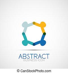 Line design loop logo - Line design logo, geometric abstract...