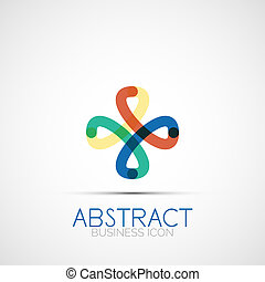 Line design loop logo - Line design logo, geometric abstract...