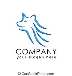 Line Doc logo template. animal logo.