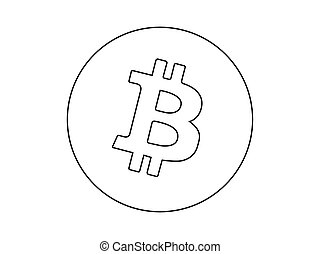 Bitcoin crypto currency logo vector isolated on white background.