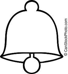 line drawing cartoon brass bell