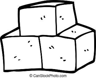 line drawing cartoon breeze blocks