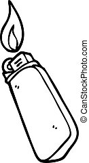 line drawing cartoon disposable lighter