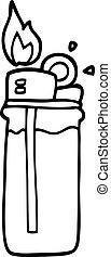 line drawing cartoon disposable lighter