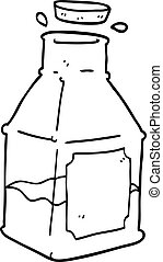 line drawing cartoon drink in decanter