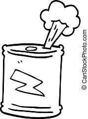 line drawing cartoon fizzy drinks can