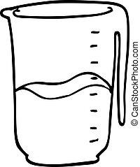 line drawing cartoon jug