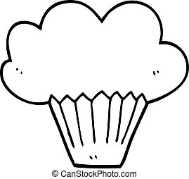 line drawing cartoon muffin