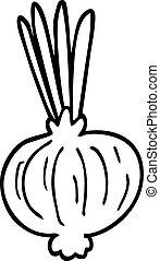 line drawing cartoon onion
