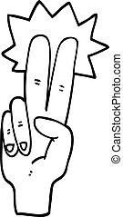 line drawing cartoon peace sign