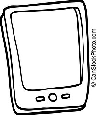 line drawing cartoon touch screen mobile