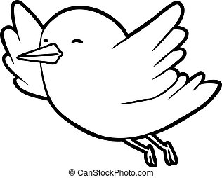 line drawing of a bird flying