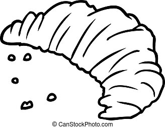 line drawing of a croissant