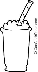 line drawing of a milkshake