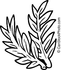 line drawing of a plant