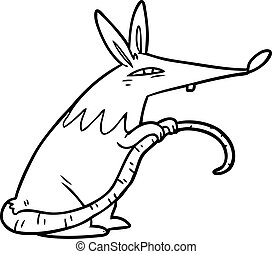 line drawing of a sneaky rat