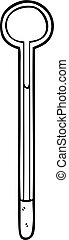 line drawing of a thermometer