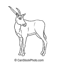 Line Drawing of Impala -Simple line Vector - Hand drawn...