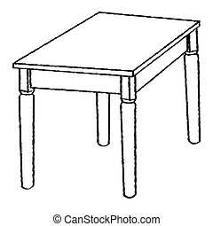 Simple drawing table  Table with drawing tools, a cup of