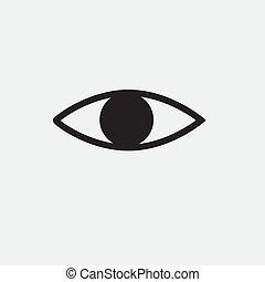 line Eye icon on white background. Flat design style.