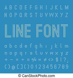 Line Font Design
