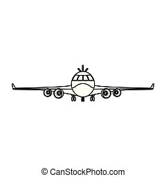 line front airplane vehicle fashion transport