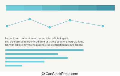 Line graph business infographic design