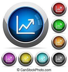 Line graph button set
