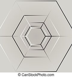 Line hexagon background
