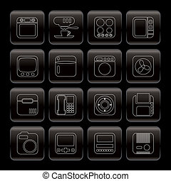 Line Home and Office, Equipment Icons - Vector Icon Set