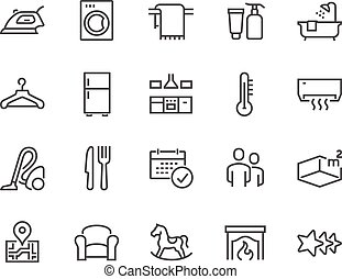 Line Hotel Icons