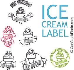 Line Ice Cream Badges