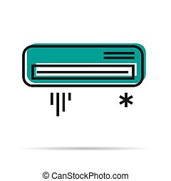 Line icon - Air conditioner icon - VEctor line icon - Air...