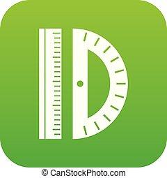 Line icon digital green