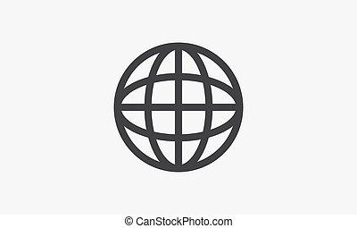 line icon globe. isolated on white background.