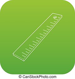 Line icon green vector