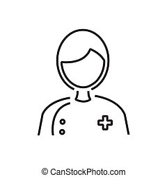 line icon male doctor avatar