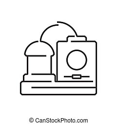 line icon Medical Device Icon, Dialysis machines