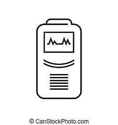 line icon Medical Device Icon, Health care portable