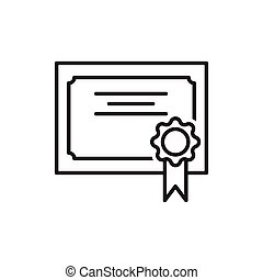 line icon of award certificate