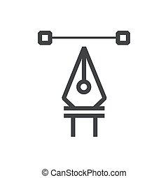 Line icon pen tool