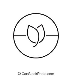 Line Icon Style, Medicinal Herb pills icon