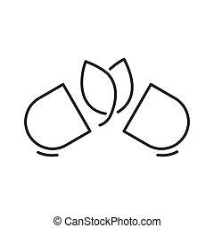 Line Icon Style, Natural pills. Alternative medicine icon