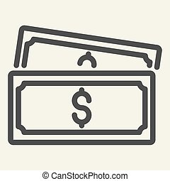 line icon. vector illustration isolated on white. Money outline style design, designed for web and app. Eps 10.