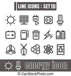 Line icons black set 10. Illustration eps 10 on white background