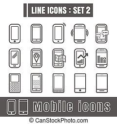 Line icons black set 2. Illustration eps 10 on white background
