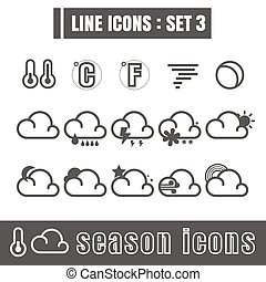 Line icons black set 3. Illustration eps 10 on white background