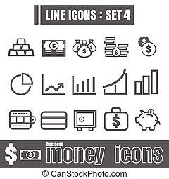 Line icons black set 4. Illustration eps 10 on white background