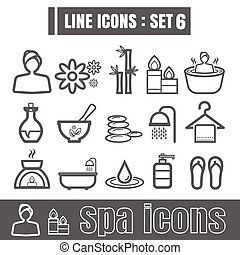 Line icons black set 6. Illustration eps 10 on white background