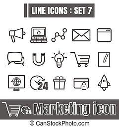 Line icons black set 7. Illustration eps 10 on white background